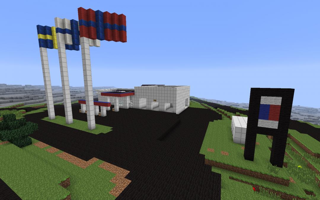 Designa Övertorneå i Minecraft